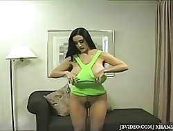 Pantyhose hot video - big fake tits